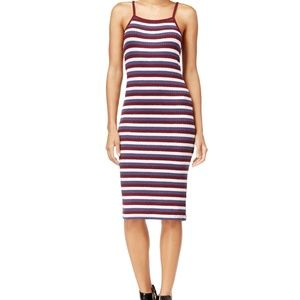 Kensie Ribbed Striped Bodycon Sheath Dress